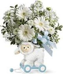 Teleflora's Sweet Little Lamb - Baby Blue from Backstage Florist in Richardson, Texas