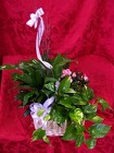 Plants-Triple Plant Basket w bloomer from Backstage Florist in Richardson, Texas