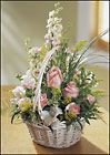 FTD Blushing Beauty Basket from Backstage Florist in Richardson, Texas