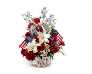 American Glory Basket from Backstage Florist in Richardson, Texas