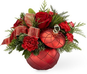 The FTD Christmas Magic Bouquet from Backstage Florist in Richardson, Texas