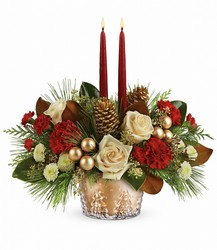 Teleflora's Winter Pines Centerpiece from Backstage Florist in Richardson, Texas