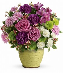 Teleflora's Spring Speckle Bouquet from Backstage Florist in Richardson, Texas