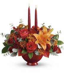 Teleflora's Autumn In Bloom Centerpiece from Backstage Florist in Richardson, Texas