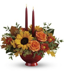 Teleflora's Earthy Autumn Centerpiece from Backstage Florist in Richardson, Texas