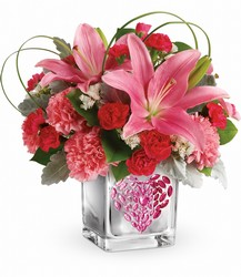 Teleflora's Jeweled Heart Bouquet from Backstage Florist in Richardson, Texas