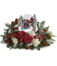 Thomas Kinkade's Snowfall Dreams Bouquet from Backstage Florist in Richardson, Texas