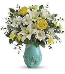 Teleflora's Aqua Dream Bouquet from Backstage Florist in Richardson, Texas