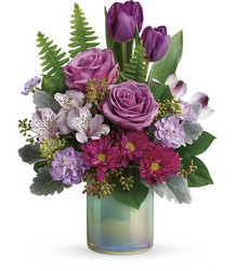 Teleflora's Art Glass Garden Bouquet from Backstage Florist in Richardson, Texas