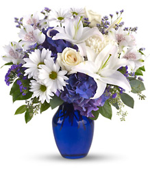 Beautiful in Blue from Backstage Florist in Richardson, Texas