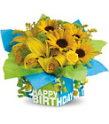Teleflora's Sunny Birthday Present from Backstage Florist in Richardson, Texas