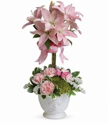 Teleflora's Blushing Lilies from Backstage Florist in Richardson, Texas