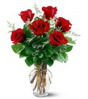 6 Red Roses from Backstage Florist in Richardson, Texas