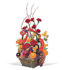 Fruits and Flowers Basket from Backstage Florist in Richardson, Texas