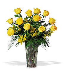 A Dozen Yellow Roses from Backstage Florist in Richardson, Texas